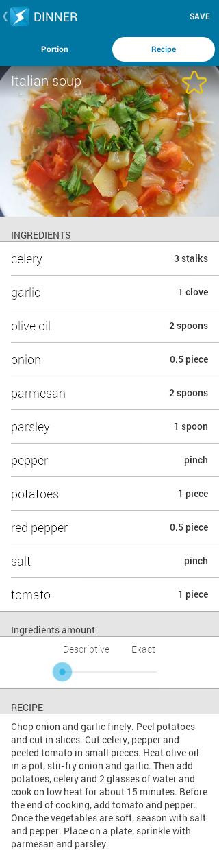Italian soup - recipe