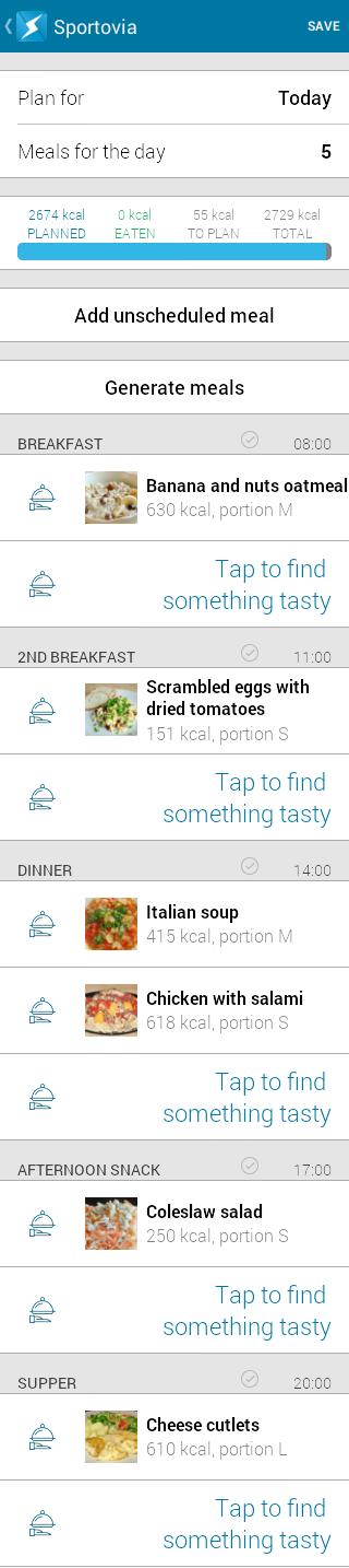Italian soup - day menu