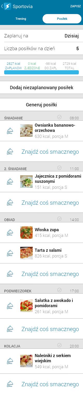 Zupa włoska - menu dnia