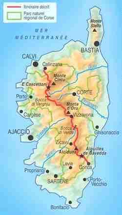 GR20 mapa